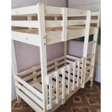 """Кровать двухъярусная - """"классика"""" со съемной перегородкой на нижнем ярусе, для безопасности маленьких детей"""