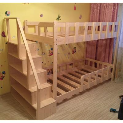 """Кровать двухъярусная - """"Классика - лесенка стеллаж"""""""