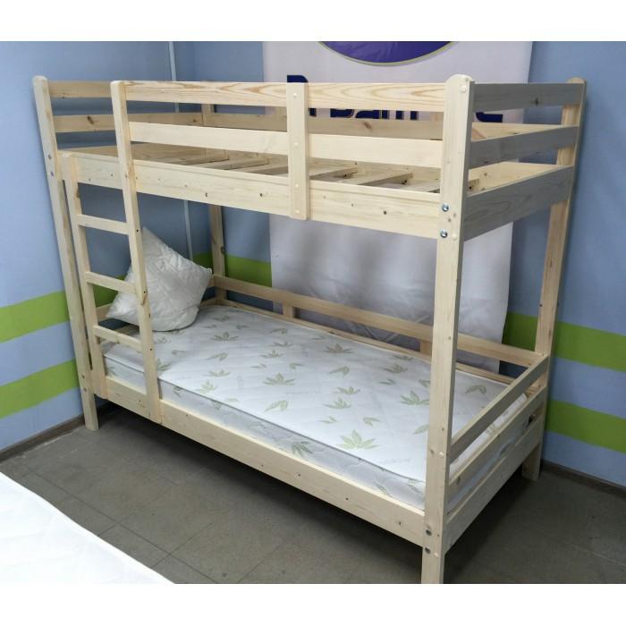 Двухъярусная кровать натурального дерева
