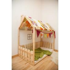 Кровать - домик, 1 ярус + ножки, как доп. опция.