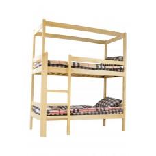 Кроватка два яруса с каркасом для штор