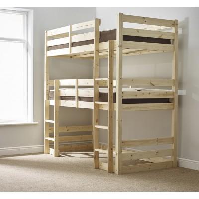 Завышенная двухъярусная кровать - Фьюжн
