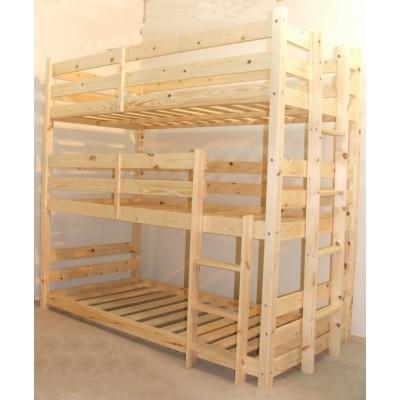 Кровать 3-х ярусная - Амарант