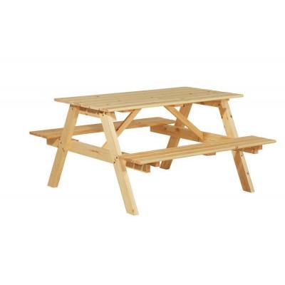 Садовый стол из массива сосны - Пикник 140